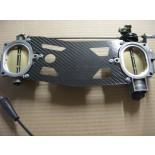 Carbon/Kohlefaser Halteplatte für Drosselklappen - 848/1098/1198