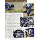 """Motorrad News 1/98 --Ducati Kämna 985 Special Evo --- Unsere Blaue Evo 916 mit 985 ccm. Erschienen in der Zeitschrift """"Motorrad News"""", Ausgabe 1/98."""