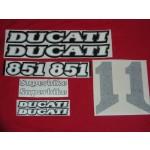 Aufklebersatz Ducati 851